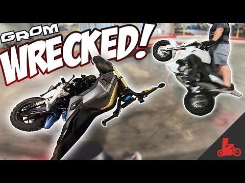 CRASHED My Bike! GoKart Track Racing @ Grom Day 6.0!