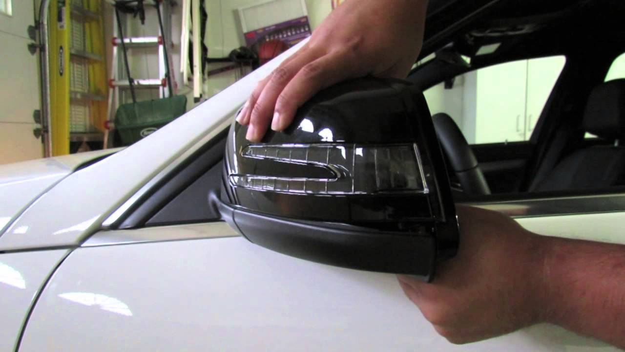 mercedes benz mirror cover removal - youtube