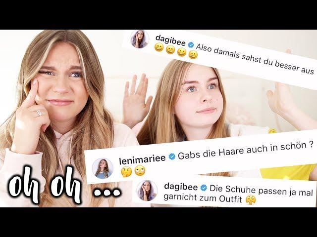 Peinliche HATE Kommentare auf INSTAGRAM schreiben ... 😩 mit Leni | Dagi Bee