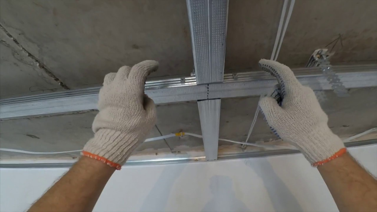 как делать потолок из профилей