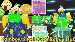 rainbow core shock with robux hat better than infinite pets pet simulator