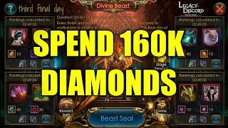 LEGACY OF DISCORD - SPEND 160K DIAMONDS | BEAST DIVINE