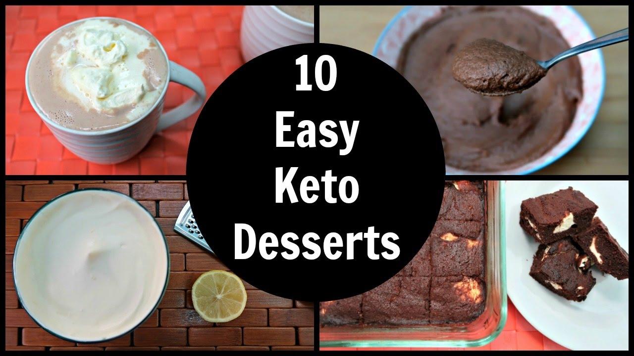 10 Easy Keto Desserts Low Carb Dessert Recipes Ideas Youtube