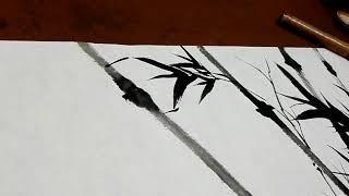 晴竹[2~1]bamboo陈铭显 (陳銘顯 Chen Ming-Hsien國畫竹子教学Chinese Painting现代中国画 Modern Chinese Painting   ~東洋画~繪畫