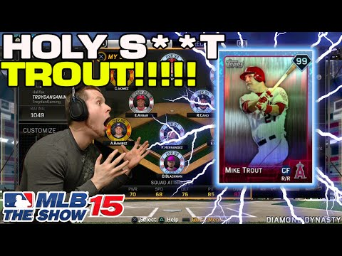 MLB 15' Best Pull Reaction Ever - MIKE TROUT!!