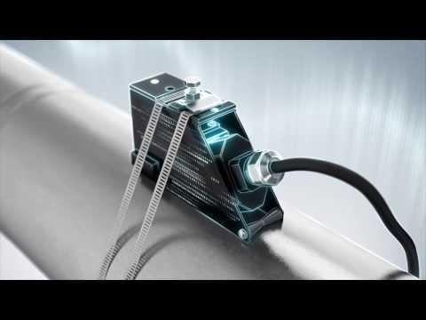 Ultrasonic flow measurement principle