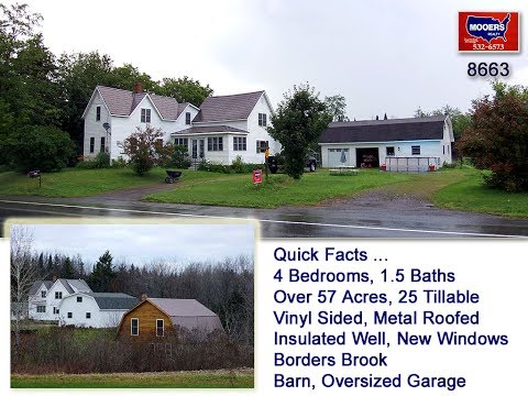 SOLD! Farms For Sale In Maine, Over 57 Acres Of Land, Home   MOOERS REALTY #8663