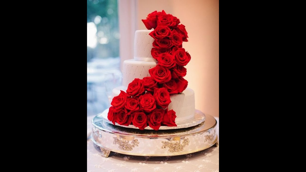 4 tier wedding cake with red roses healthy lifestyle 100 the most beautiful wedding cakes 10424