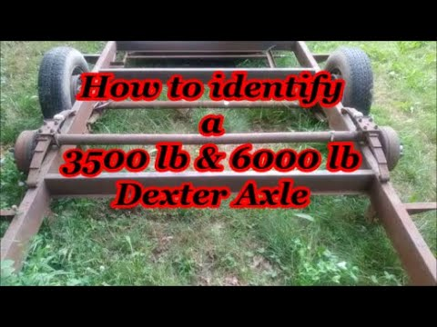How To Identify A 3500 Lb And 6000 Lb Dexter Trailer Axle
