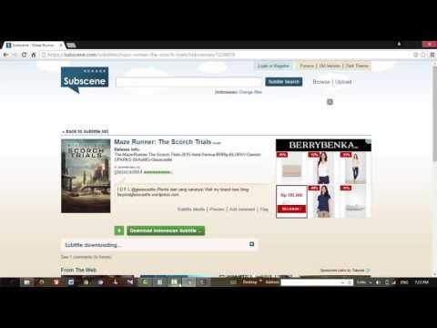 Cara mendownload dan memasukkan subtitle ke dalam film