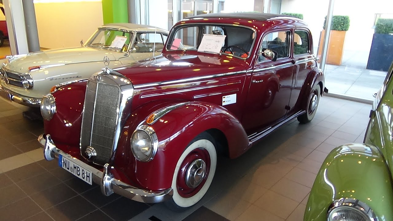 1951 1955 mercedes benz 220 technorama ulm 2016 youtube. Black Bedroom Furniture Sets. Home Design Ideas