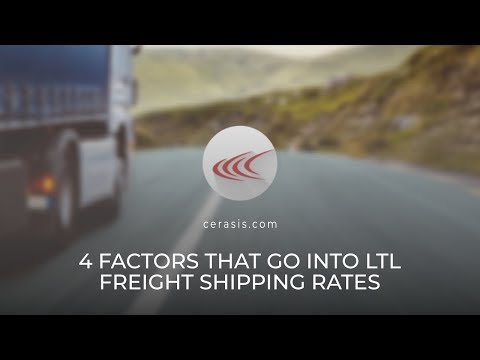 Talking Freight (66) - 4 Factors That Go Into LTL Freight Shipping Rates