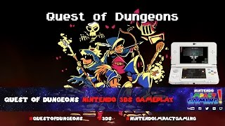 Quest of Dungeons Nintendo 3DS Gameplay