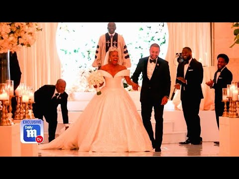 c91bb558594 Exclusive look inside RHOA star Eva Marcille s wedding - YouTube