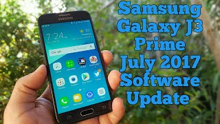 Samsung Galaxy J3 Prime Software Update for July 2017