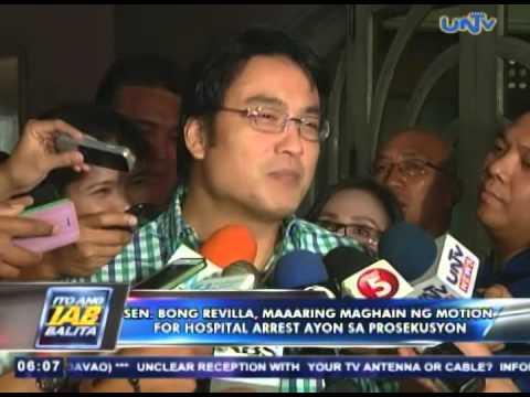 Sen. Bong Revilla, maaaring maghain ng motion for hospital arrest ayon sa prosekusyon