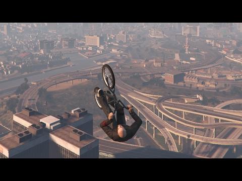 GTA 5 #288 Stunt Med BMX & Manchez vs Rocket Voltic