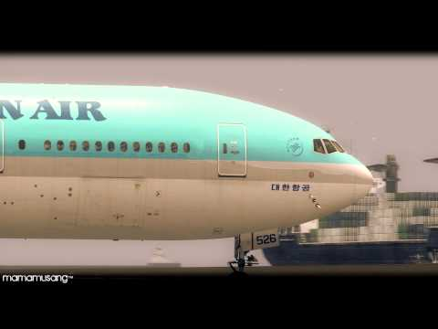 [FSX HD] Korean Air 777-200ER Landing Macao