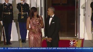 Michelle Obama's Dress Steals Show