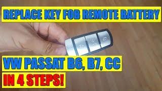 vw passat b6 b7 cc kessy key fob remote battery replacement in 4 steps