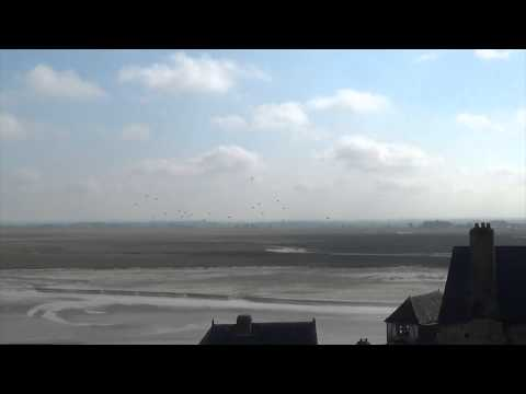 French Paratroopers Jump by Mont Saint-Michel 2014