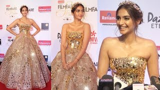 Fashion Diva Sonam Kapoor At Filmfare Glamour and Style Awards 2017 Red Carpet