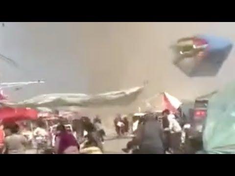 Tornado hits scenic spot in central China: 18 children injured