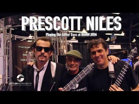 Prescott Niles NAMM 2016 Playing the Gittler Fretted Bass