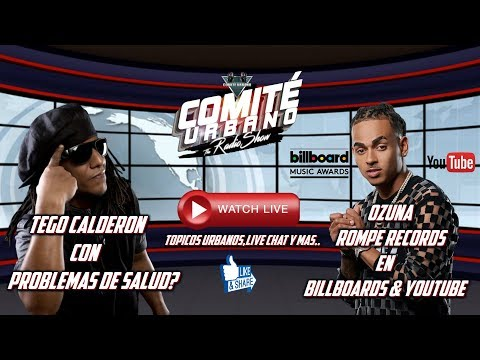 TEGO CALDERON con PROBLEMAS de SALUD? | OZUNA ROMPE RECORDS #ComiteUrbanoLive