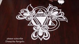 latest rangoli design without dots muggulu small daily kolam designs Apartment rangoli designs