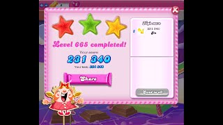 Candy Crush Saga Level 665 ★★★ NO BOOSTER