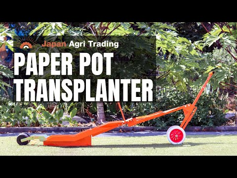 HP-6 - Paper Pot Transplanter for Onion, Long leek, Made in Japan