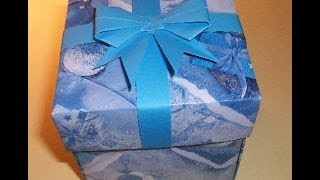 Подарочные Коробки Своими Руками Без Клея и Ножниц. Origami Box(Показываю и рассказываю, как сделать коробочку квадратную с крышкой для подарка своими руками. Подарочная..., 2014-04-16T14:47:03.000Z)