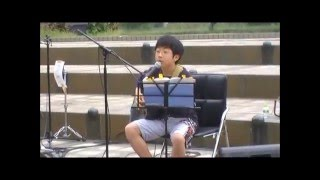 KIDS'A キッズエー 崎山蒼志(13歳) 弾き語り 『samidare〜五月雨〜』 オリジナル曲 in キタラ 浜松駅