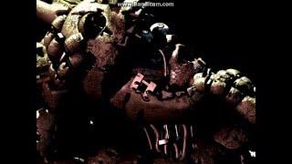 FNAF 3 # A imagem do Homem de Roxo tentando sair de dentro do Springtrap