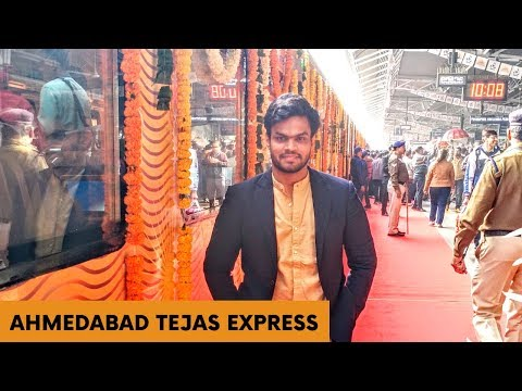 Mumbai Ahmedabad Tejas Express Executive Class full journey