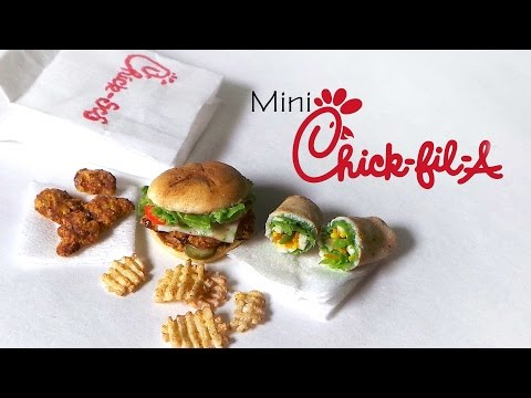 Chick-Fil-A Inspired Miniatures - Polymer Clay Tutorial