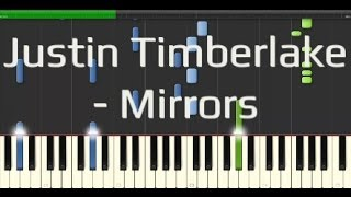 Justin Timberlake - Mirrors (Synthesia Piano Tutorial 50% [Easy])