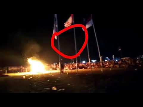 Beredar video penampakan saat berlangsungsungnya upacara api unggun kegiatan pramuka