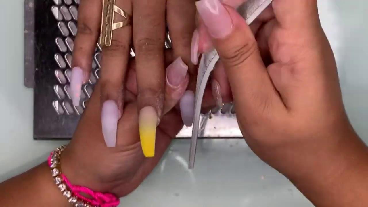 Glitter Ombré Nails | Acrylic Nails Tutorial | Natali Carmona