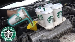 Can You Use STARBUCKS Coffee as ENGINE OIL?