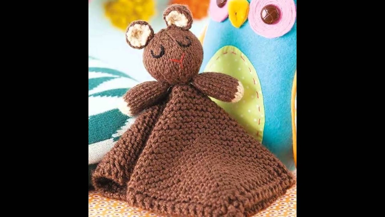 Animal Lovies Blankets Knit Blankies Pattern Book Preview - YouTube