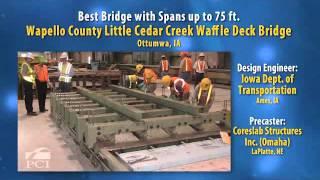 2012 Design Award Winner: Little Cedar Creek Waffle Deck Bridge