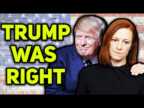 WATCH: Jen Psaki Admits Trump Was Right