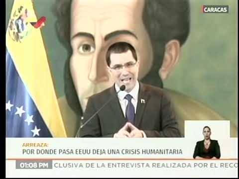 Jorge Arreaza tras firma de orden ejecutiva de Trump contra Venezuela, 6 agosto 2019