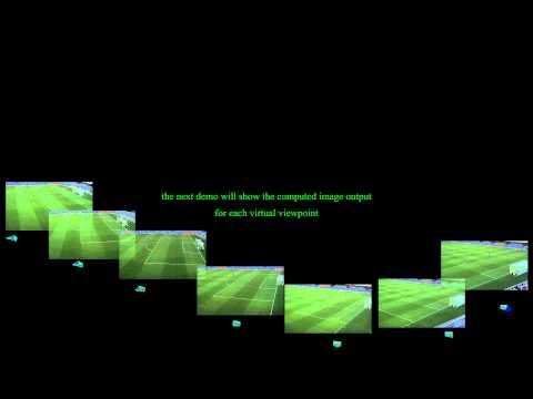 View interpolation of a soccer scene