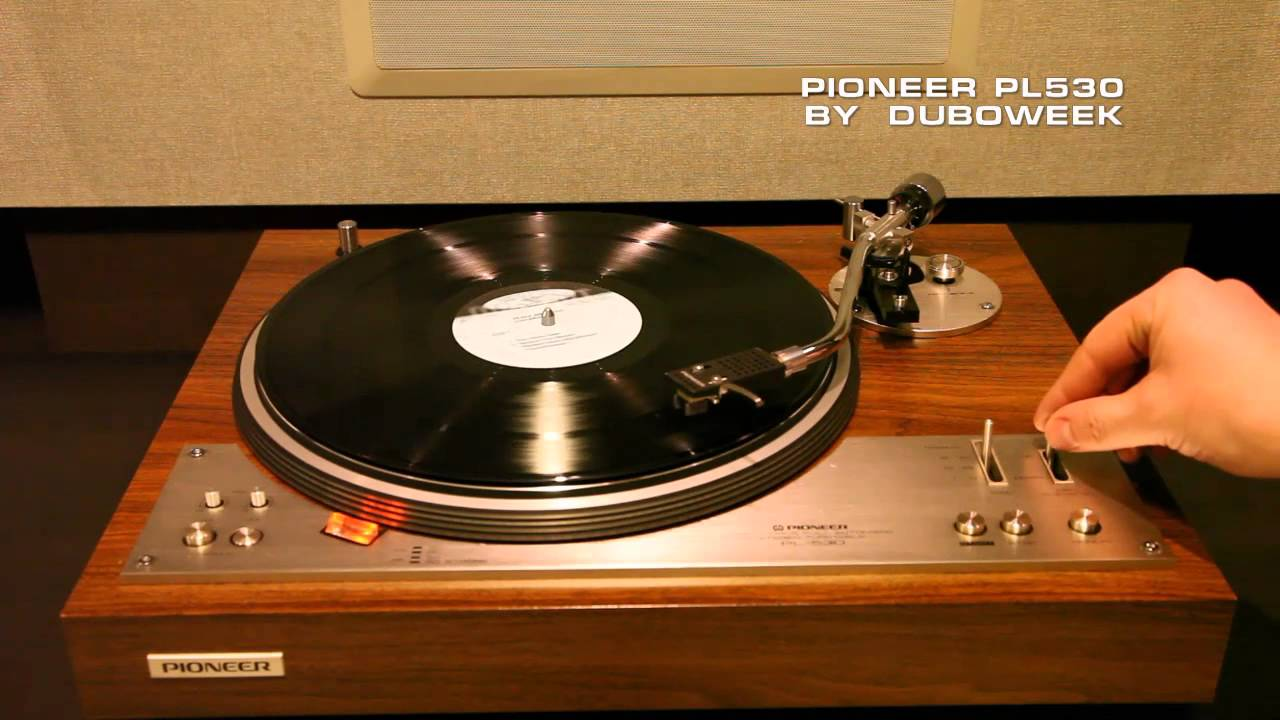 pioneer pl 530 vinyl record player demo youtube. Black Bedroom Furniture Sets. Home Design Ideas