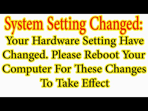 System Settings Changed, Please Reboot Your Computer [Solved] - YouTube