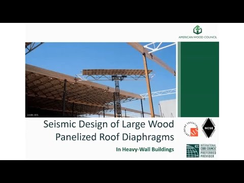 Des430 Wood Panelized Roof Diaphragms In Heavy Wall
