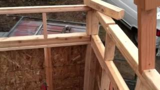 Riser section to get loft cieling height high enough to stand in off grid cabin.